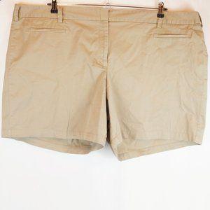Lands End Shorts Khaki Plus Size 26W Fit 2 Women's